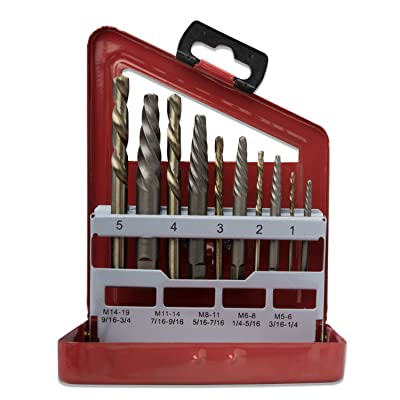 Neiko 01925A Screw Extractor And Left Hand Drill Bit Set, 10 Piece