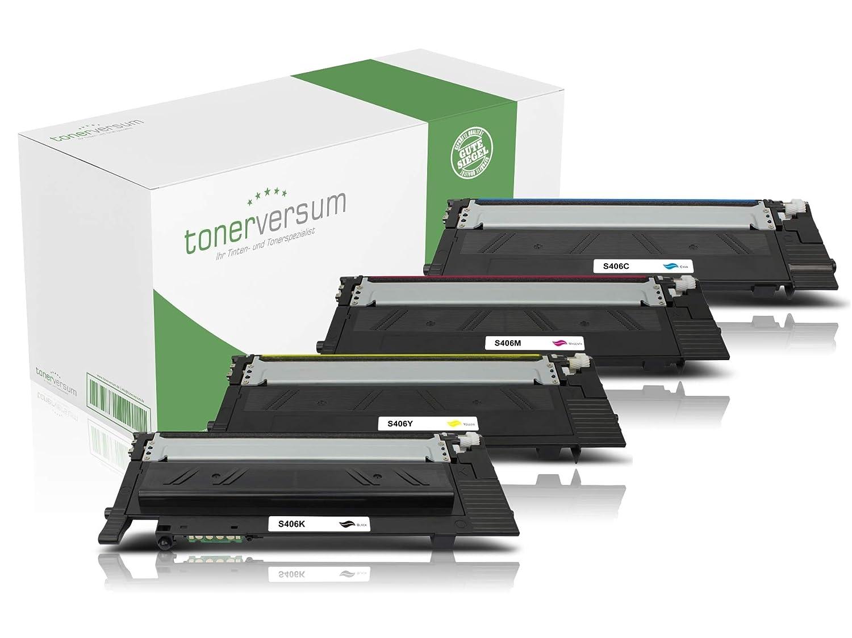 4 Toner compatible con Samsung CLT-P406C Negro Cian Magenta ...