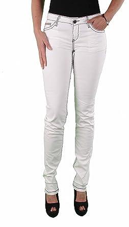 c7f7aa2850de35 Cipo & Baxx Damen Naht Jeans Hose Jeanshose weiß: Amazon.de: Bekleidung