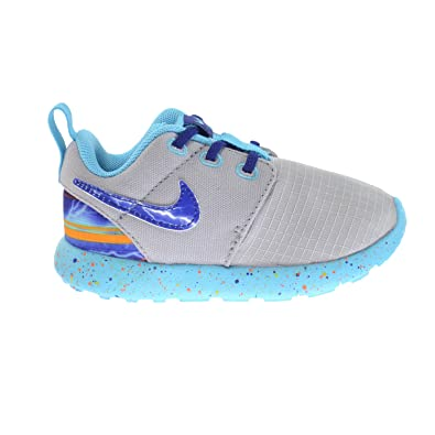Nike Roshe One Print (TDV) Infant Baby Toddlers Shoes Wolf Grey/Royal Blue