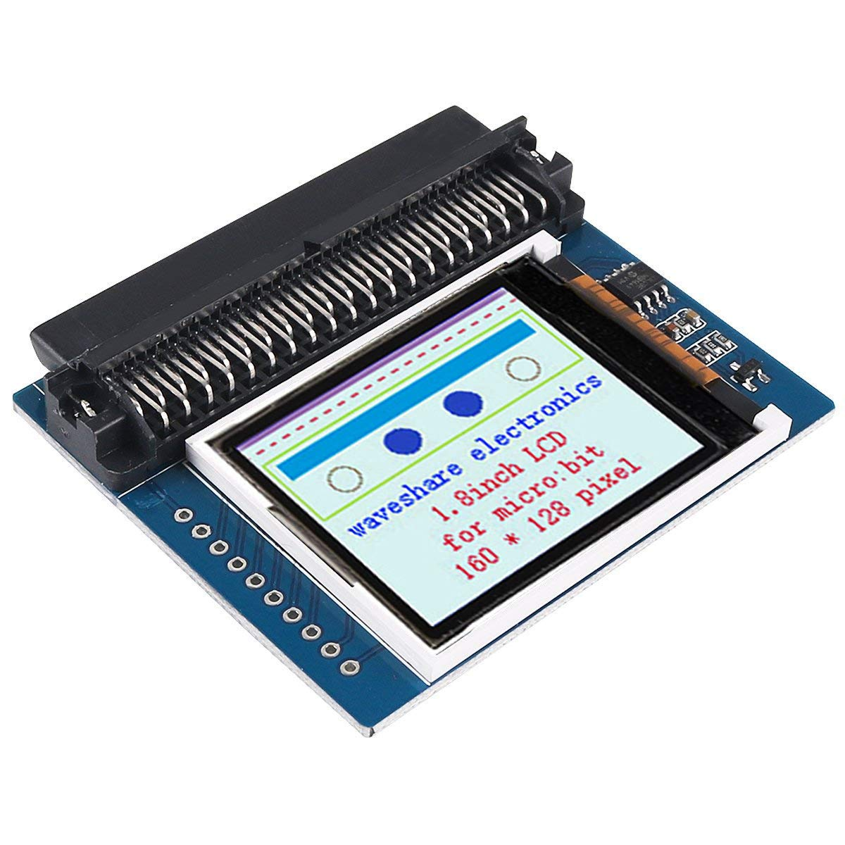 Onboard SRAM 23LC1024 160x128 Pixels with SPI Interface Capable of Displaying 65K Colors MakerFocus 1.8inch LCD for Micro Bit Can be Used as Video Memory Colorful Display Screen Module