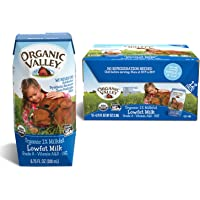 12-Pack Organic Valley 1% Plain Lowfat Organic Milk Boxes (6.75 oz)