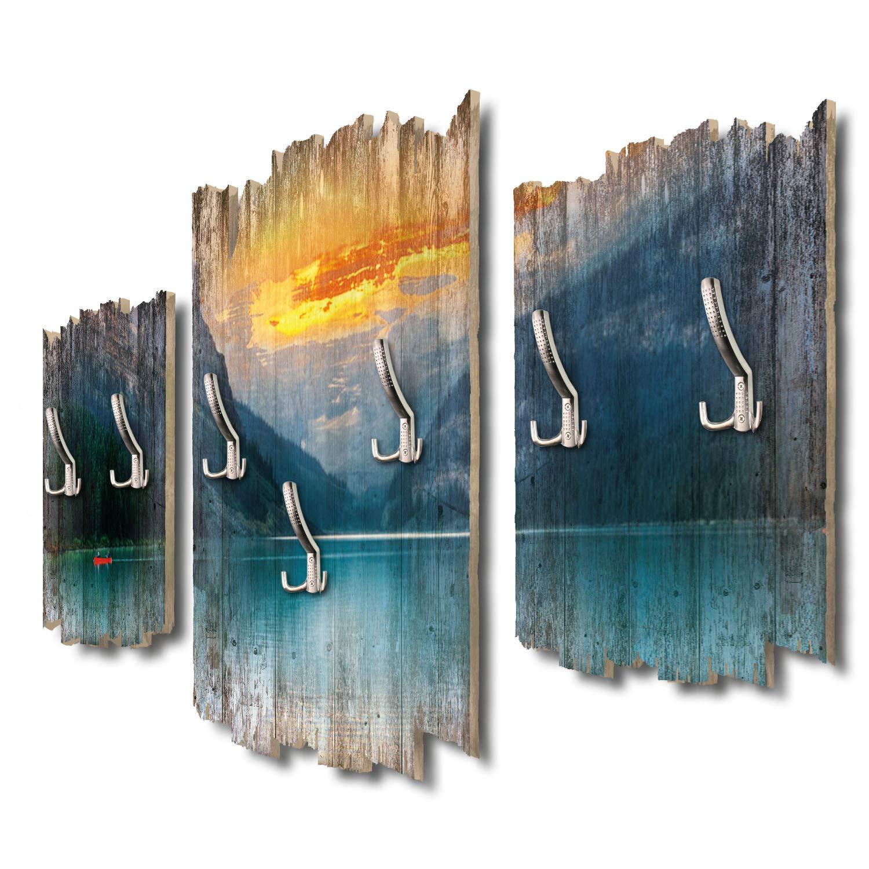 Kreative Feder Kanada Banff-Nationalpark Designer Wandgarderobe Flurgarderobe Wandpaneele 95 x 60 cm aus MDF-Holz DTGH014