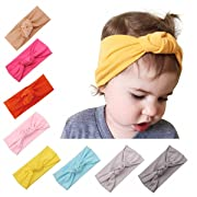 Baby Girl Cute Turban Headband Head Wrap Knotted Hair Band for Newborn, Toddler and Childrens