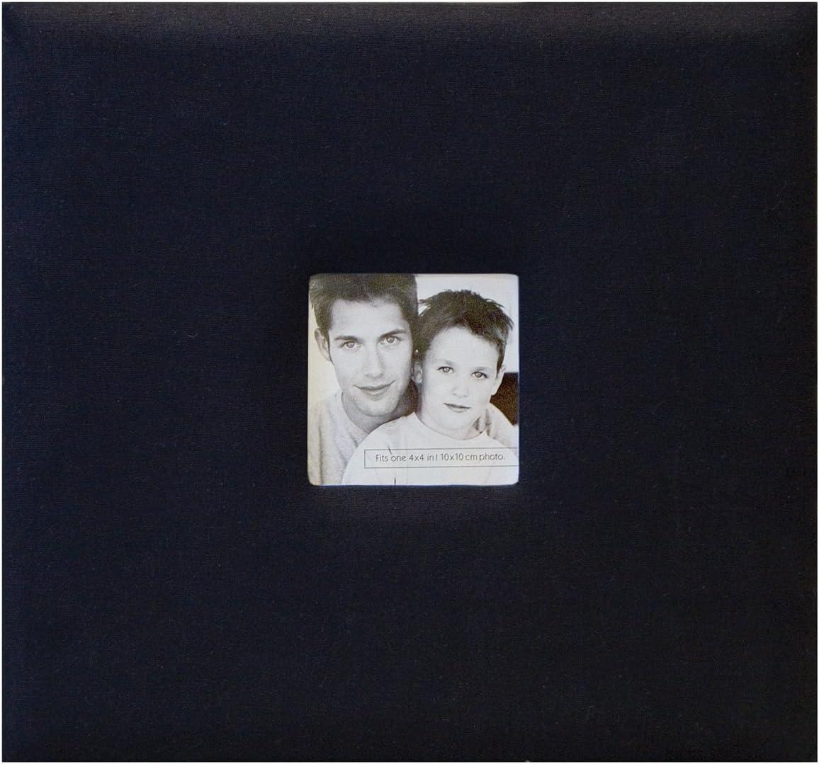 Red MBI 9.6x8.5 Inch Fashion Fabric Post Bound Scrapbook 802813