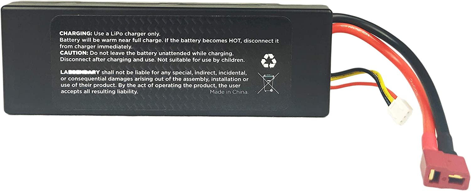 5200 mAh 7.4V 2S 30C Rechargeable Battery LAEGENDARY RC Car LiPo Compatible with LAEGENDARY 1:10 Scale RC Truck