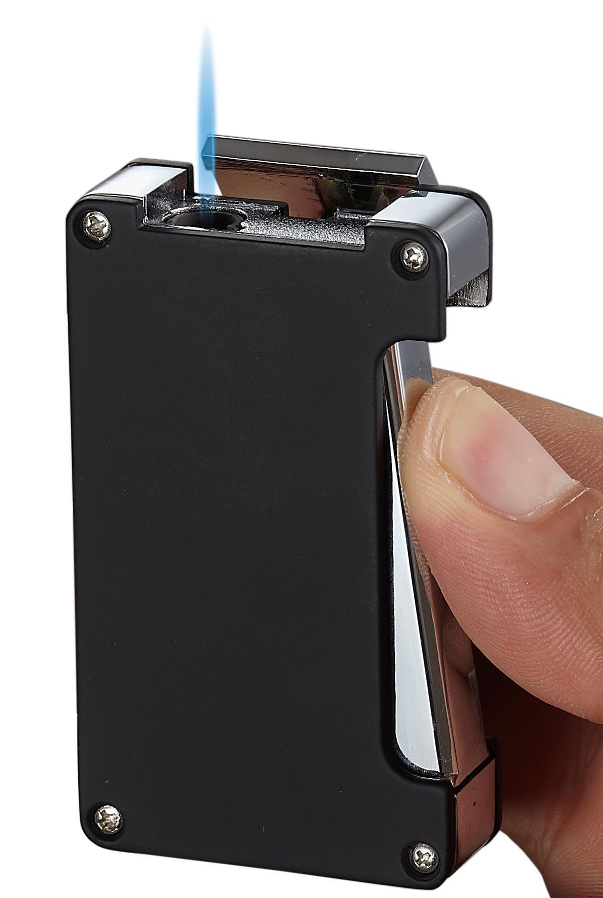 Visol Zidane Black Matte Cigar Lighter with Built-in Cigar Punch by Visol (Image #2)