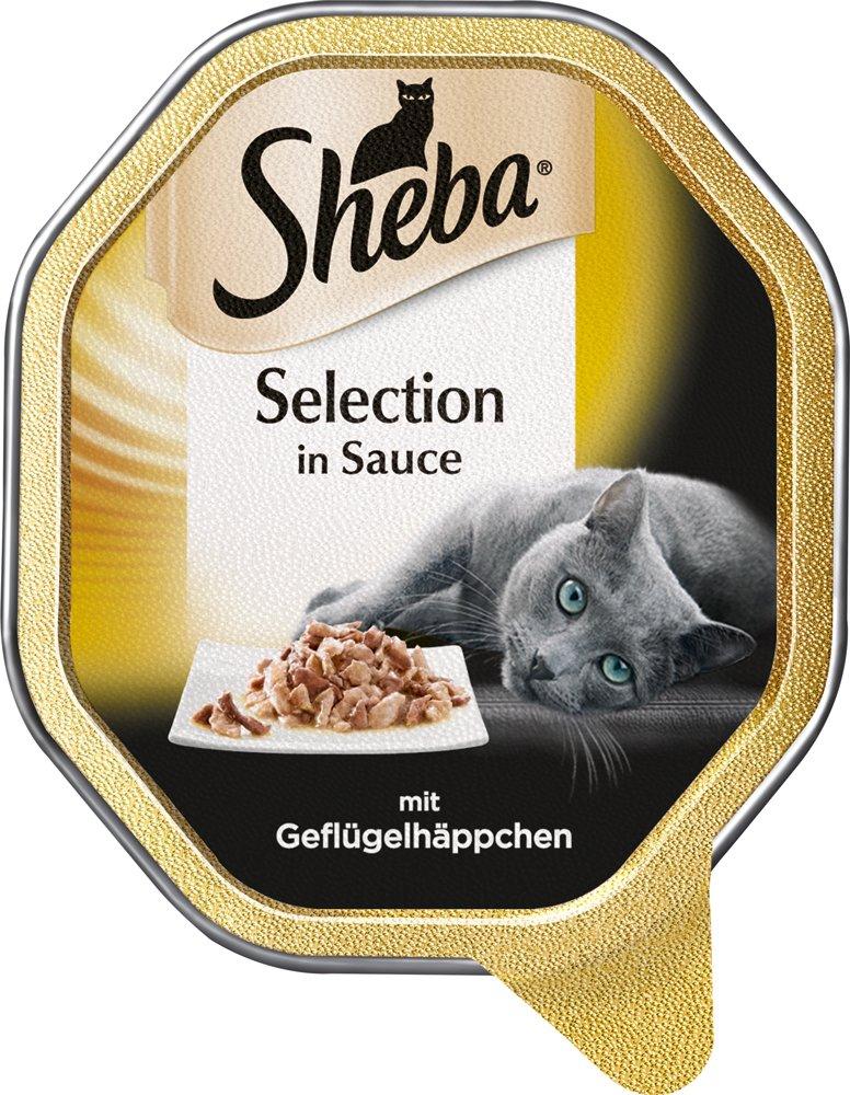 Sheba Comida húmeda para Gatos Selection in Sauce bocaditos de Aves en Salsa, 22 Unidades (2 x 11 x 85 g): Amazon.es: Productos para mascotas