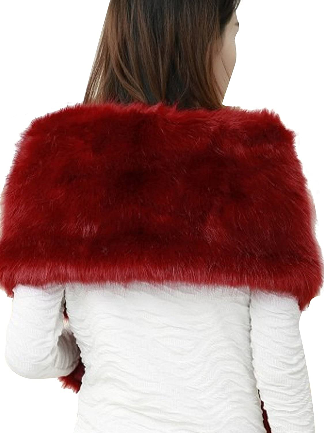 Womens Winter Wedding Shawl Faux Fur Scarf Wraps for Evening//Party//Show
