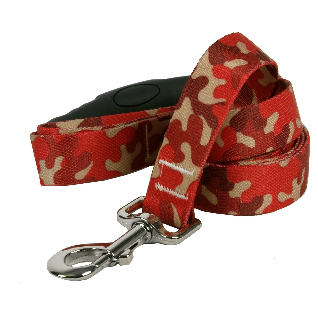 Yellow Dog Design Camo Red Ez-Grip Dog Leash with Comfort Handle 1'' Wide and 5' (60'') Long, Large