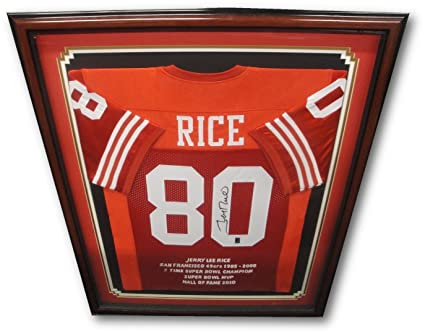 0eb25292d4b Jerry Rice Signed Autographed Custom Framed San Francisco 49ers Jersey Rice  Holo