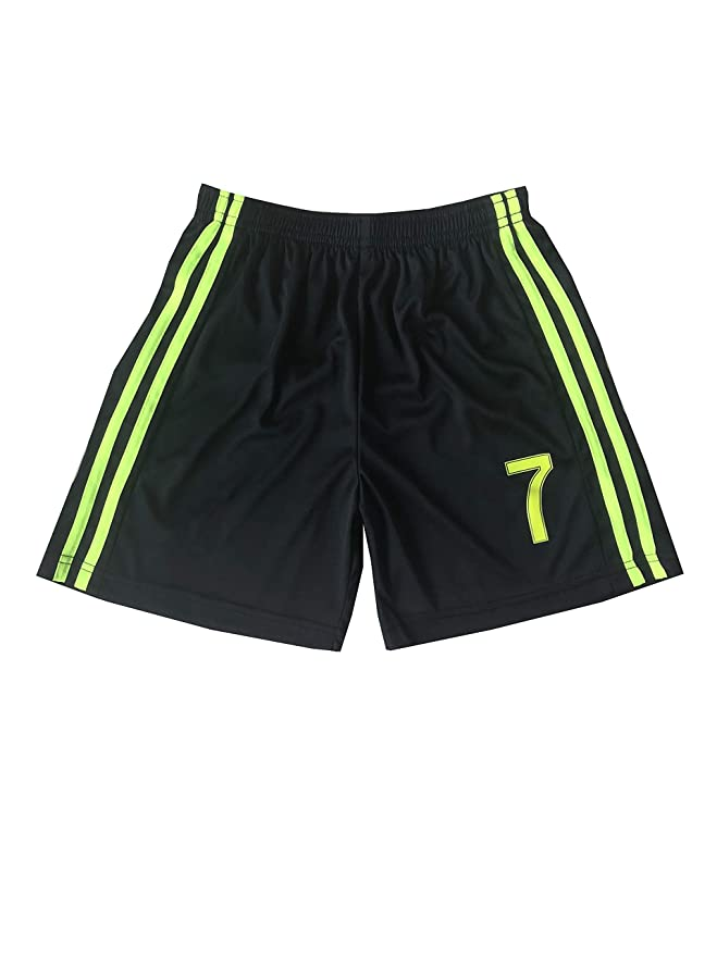 760f0ed9a Amazon.com : GamesDur 2018/2019 Ronaldo #7 Third Black Soccer Kids Jersey &  Short & Sock & Soccer Bag Youth Sizes : Sports & Outdoors