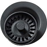 Elkay LKQD35BK Black Polymer Disposer Flange with Removable Basket Strainer and Rubber Stopper