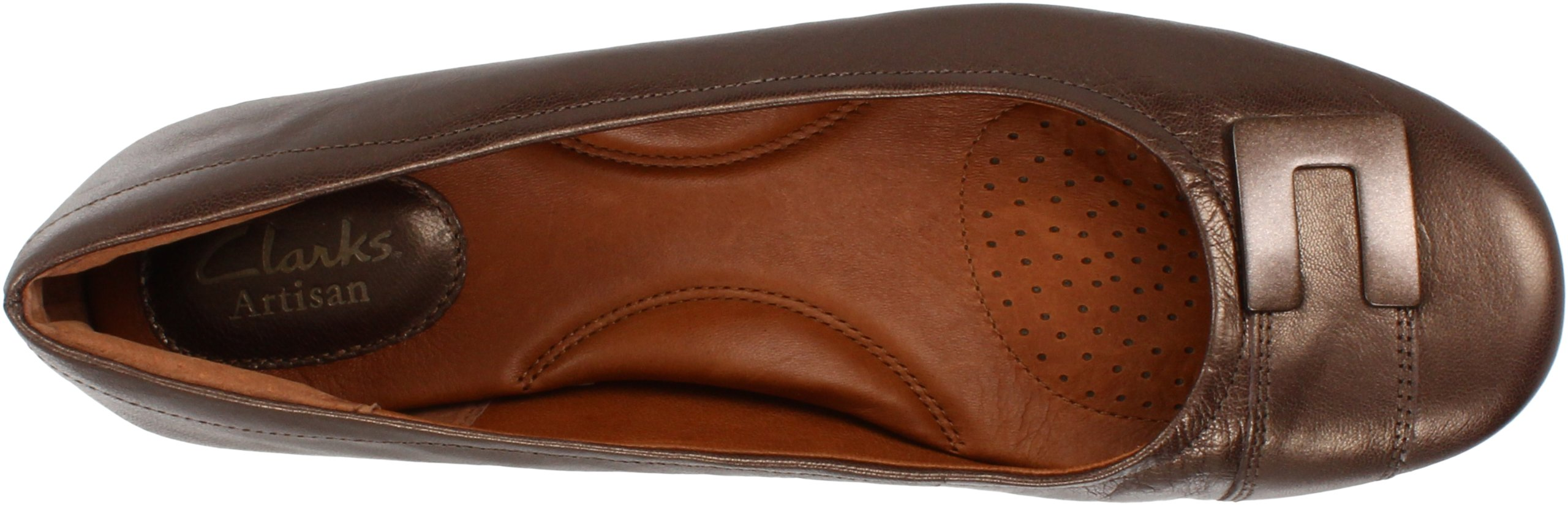 Clarks Women's Concert Choir Dress Shoes,Brown Metallic Leather,5 M US by CLARKS (Image #7)