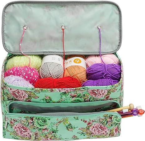 Portable Large Yarn Storage Bag Knitting Crochets Tote Organizer Holder Case S L