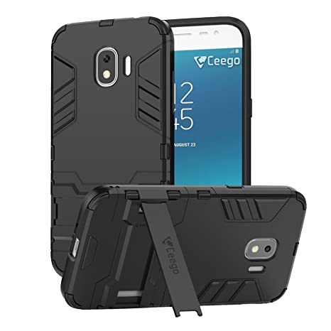 the best attitude bc9b8 042dc Ceego Back Cover for Samsung Galaxy J2 (2018) - Stealth Defence Back Case  for Samsung J2 (2018) [with Shock Protection & Built-in Stand] – Matte ...