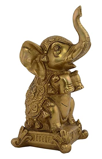 Amazon Com Kapasi Handicrafts Emporium Brass Elephant Up Trunk