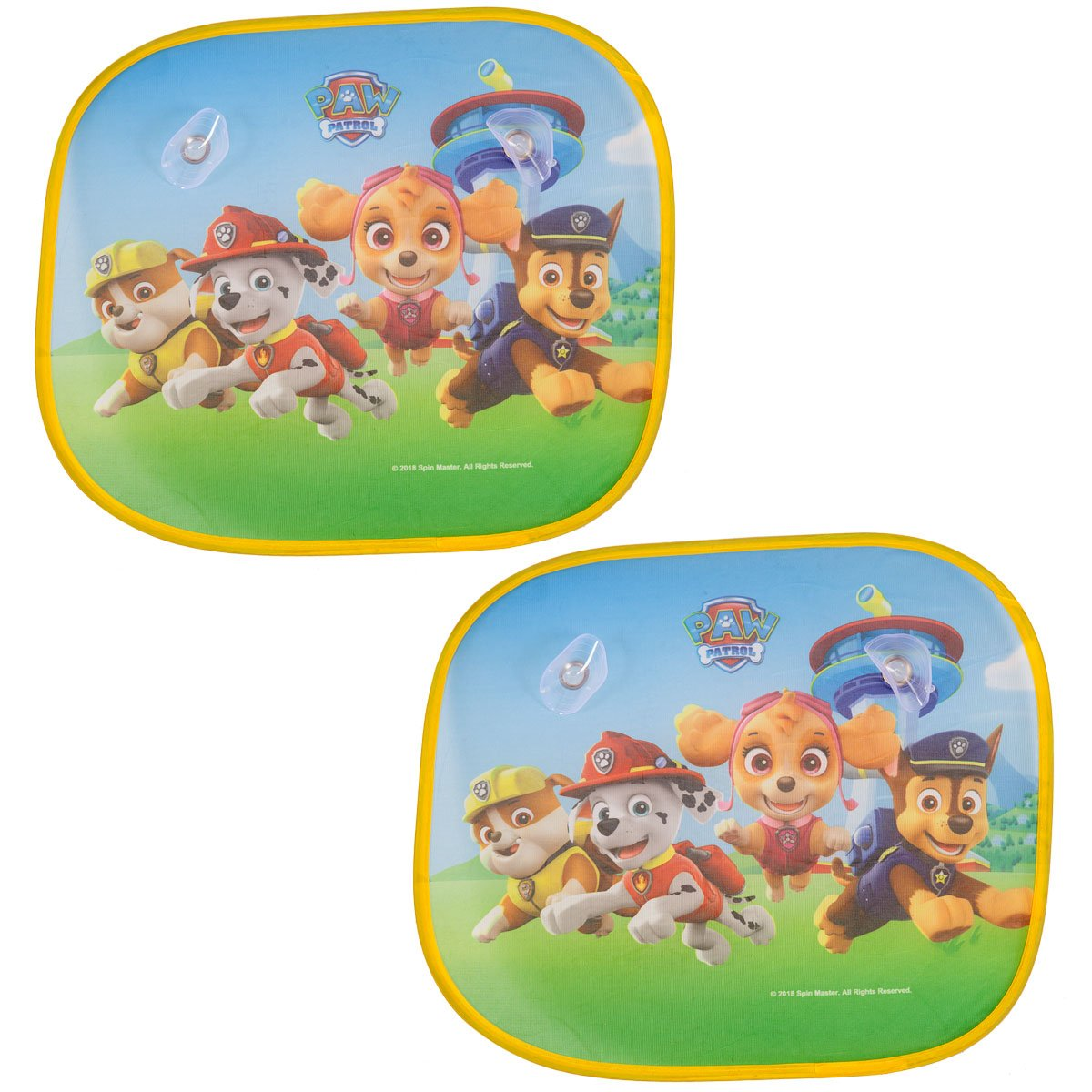 Paw Patrol (Set of 2 Folding Shades Car Window Sunshades for Kids Protection