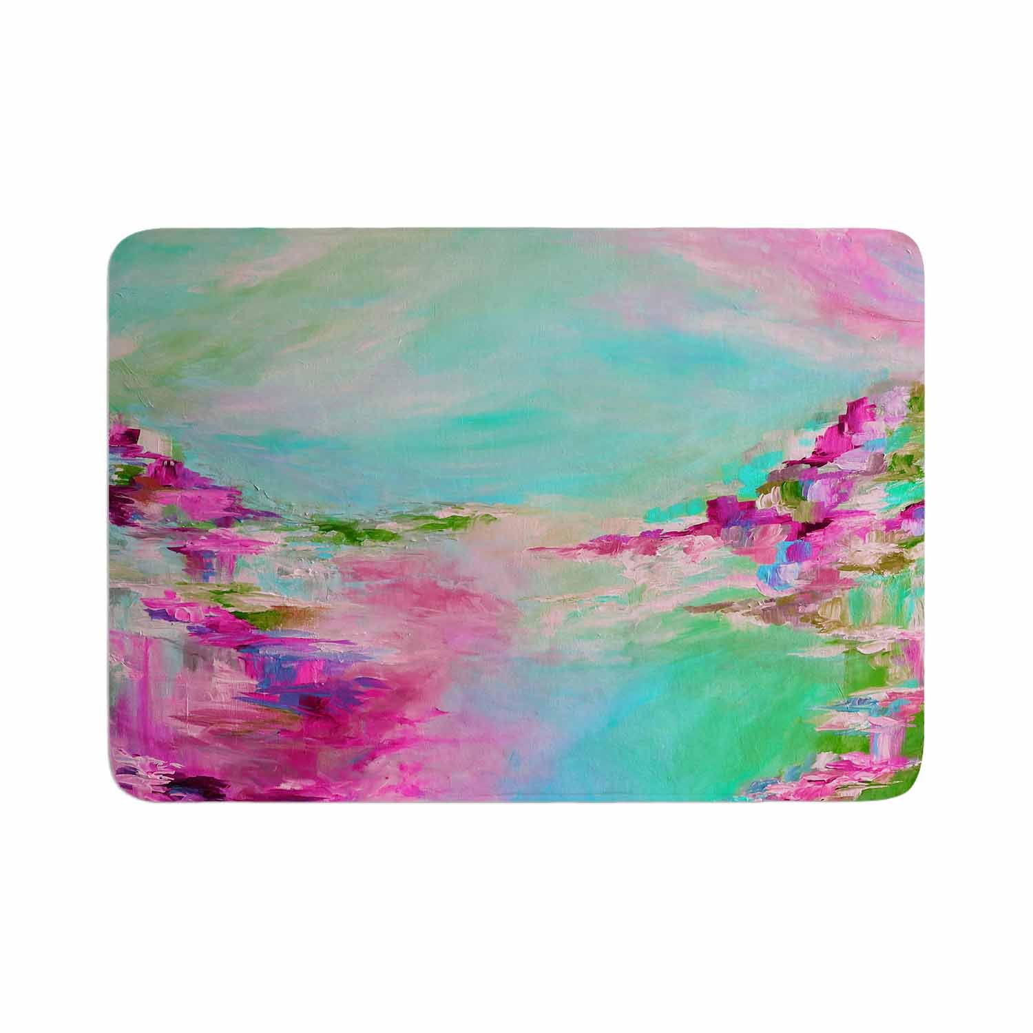 Kess InHouse EBI Emporium Something About The Sea 2 Teal Pink Memory Foam/ Bath Mat 24 by 36