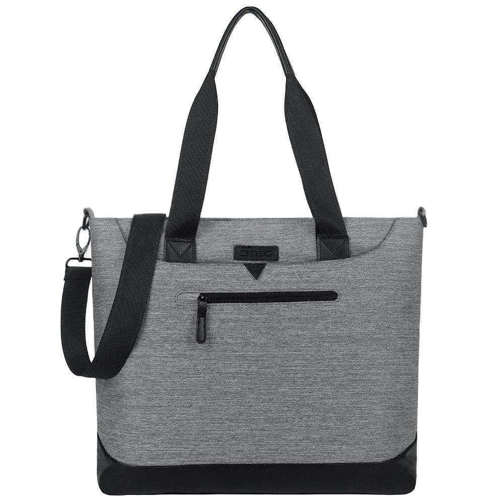 Women Laptop Bag 15.6 Inch, DTBG Nylon Multifunctional Classic Work Travel Messenger Shoulder Bag Office Briefcase Handbag Tote Bag for 15 - 15.6 Inch Laptop / Notebook /MacBook/Tablet Computer,Grey