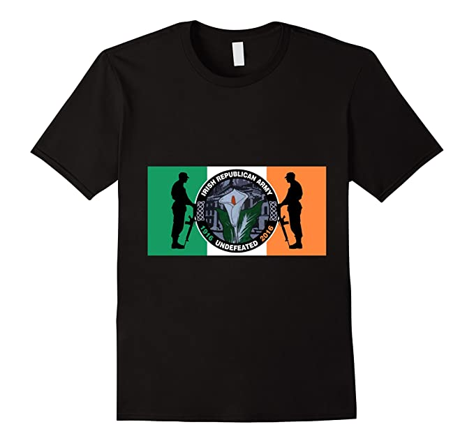 Mens Irish Republican Army Undefeated Easter Rising Flag Shirt