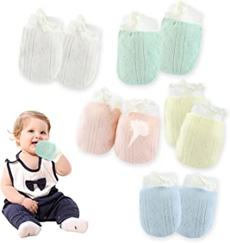1 pair Baby Anti Scratching Gloves Face Protection Breathable