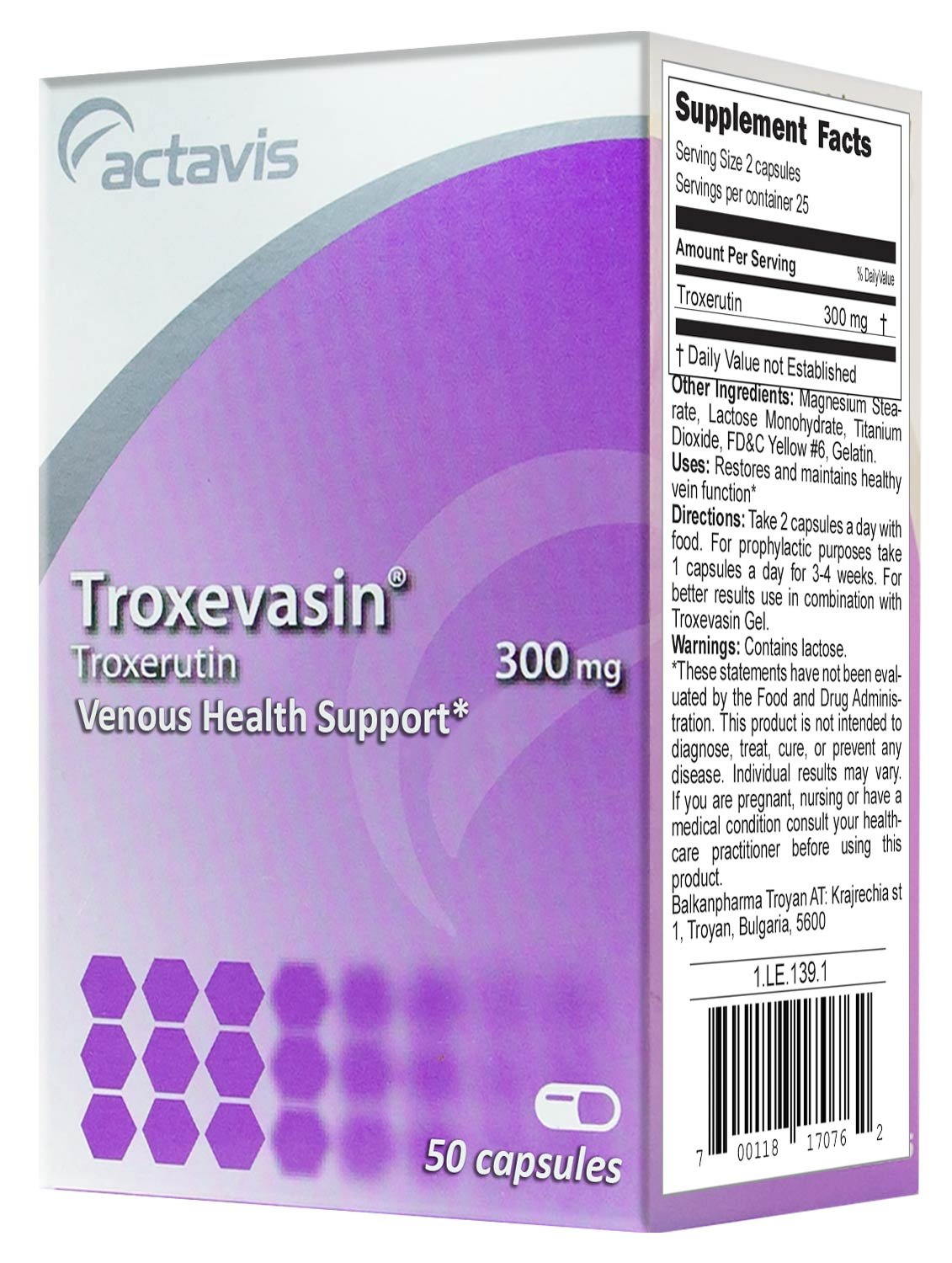 Drug Troksevazin (capsules): instructions for use 10
