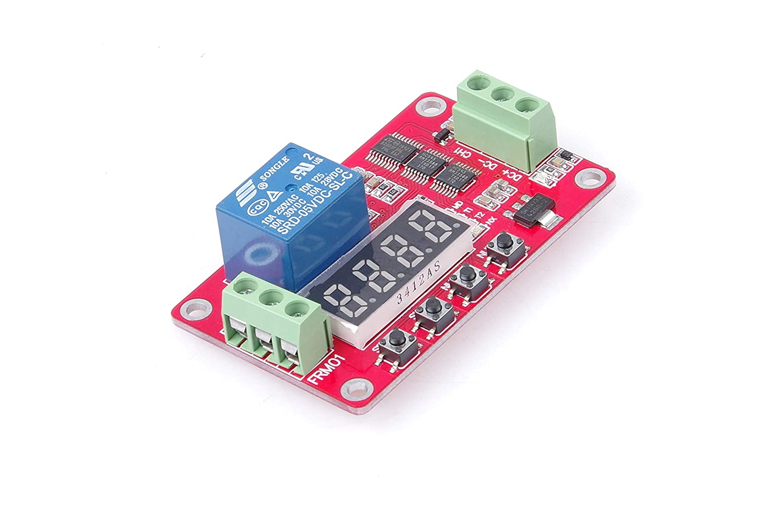 5V DC Relay Module 5V 1-Channel KNACRO Multifunctional DC 5 Volt 1 Channel Relay Board Programmable Cycle Relay Module 10A Portable Timer Switch Board Power Switch Circuit 18 Modes