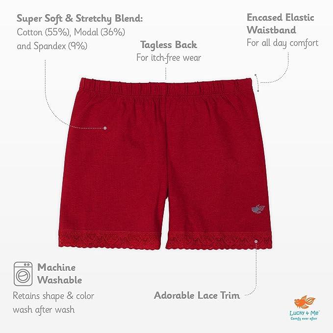 8a1fdd3262b Amazon.com  Lucky   Me Leah Girls Underwear Shorts