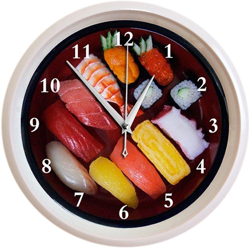 お寿司の壁掛け時計(おもしろ時計) B07646NX9J