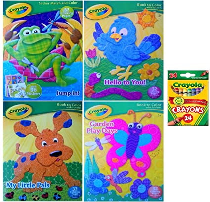 Amazon.com: Crayola Coloring Book with Crayons (4 Coloring Books ...