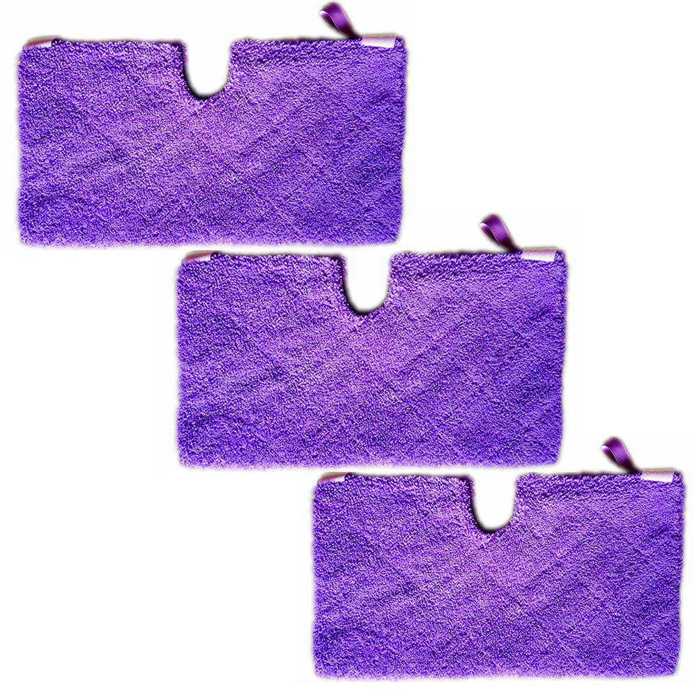 3Pcs Microfiber Replacement Cleaning Pads for Shark Steam Pocket Mops S3500 Series, S2902, S3455K, S3501, S3550, S3601, S3801, S3901, S4601, S4701, S4701D, SE450 (Purple) Turbokey