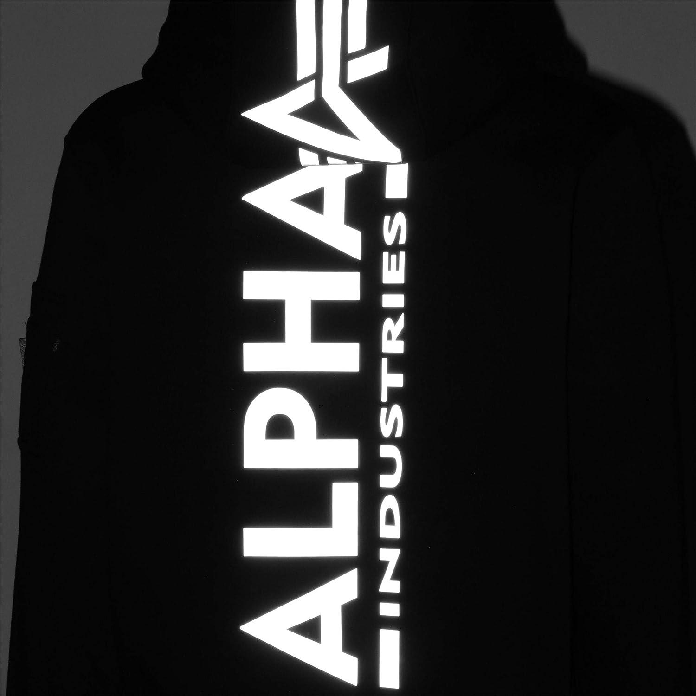 ALPHA INDUSTRIES Back Print Sweat à Capuche Noir