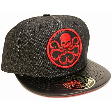 a088448e08c77 Image Unavailable. Image not available for. Colour  Marvel Comics Hydra Logo  Black Snapback cap
