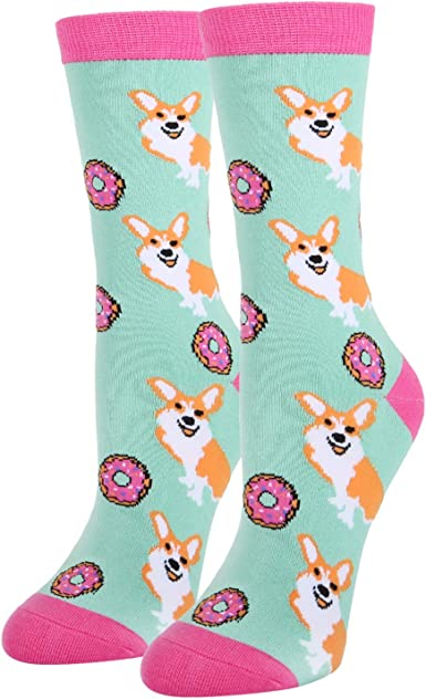 Cute Fun Crazy Silly Cat Kitten Womens Teen Girls Casual Ankle Socks Gifts Meow