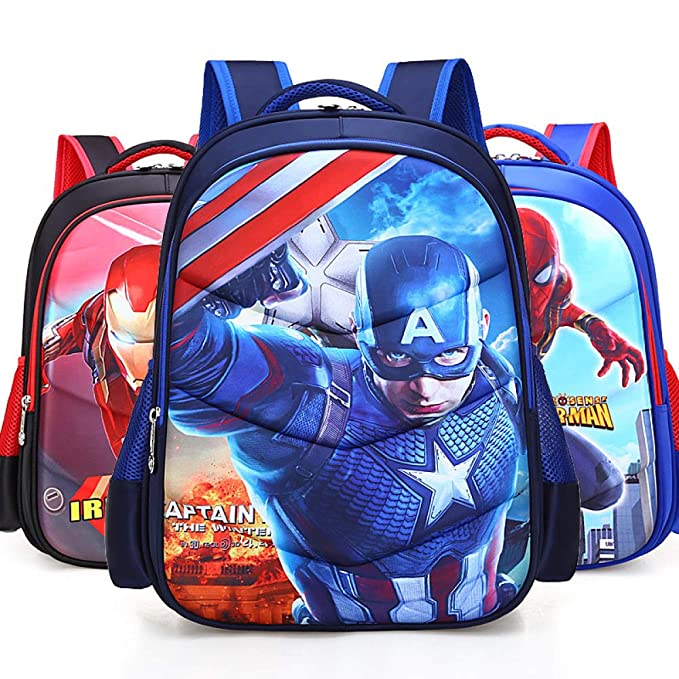 Amazon.com | Iron Man Spiderman Captain America Childrens School Backpack Lightweight Teens Backpacks For Boys And Girls School Bags 6-15 Year Old, ...
