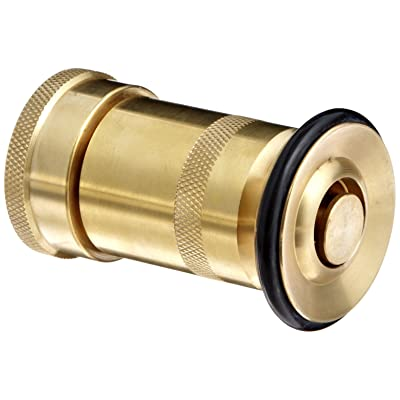 "Moon 520-1021 Brass Fire Hose Nozzle, Heavy Duty Industrial Fog, 36 gpm, 1"" NH: Industrial & Scientific"