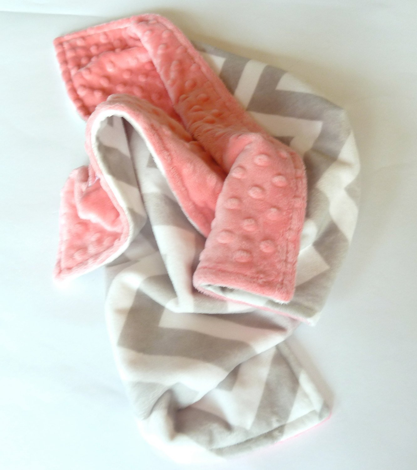 amazoncom personalize double minky baby blanket gray chevron minky front you choose solid color minky handmade