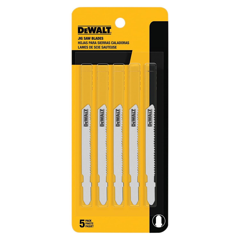 DEWALT DW3776-5 3-Inch 24 TPI Thin Metal Cut Cobalt Steel T-Shank Jig Saw Blade (5-Pack)