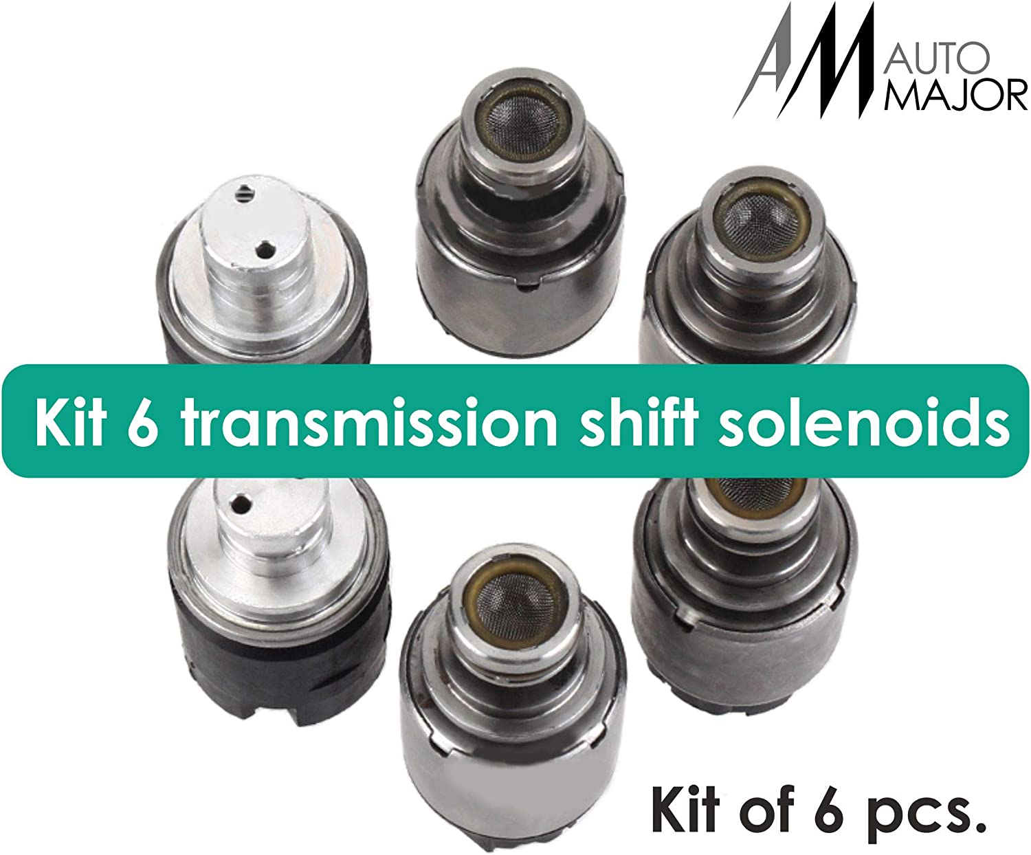 Suzuki Automajor Transmission Shift Solenoid Valve Perfectly Fits for Daewoo Buick OEM Part for 4HP16 ZF4HP16 Transmission Chevy Kit of 6pcs Solenoids with Anti-Corrosion Resistance