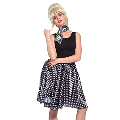 1f595c94caf 50s 1950s 60s 1960s Girls Ladies Womens Rock And Roll Polka Dot Grease Jive  HEN NIGHT