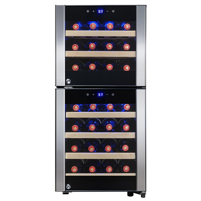 FIREBIRD 33 Bottles Dual Zone Touch Control Built-in Compressor Freestanding Electric Wine Cooler Chiller Refirgeator