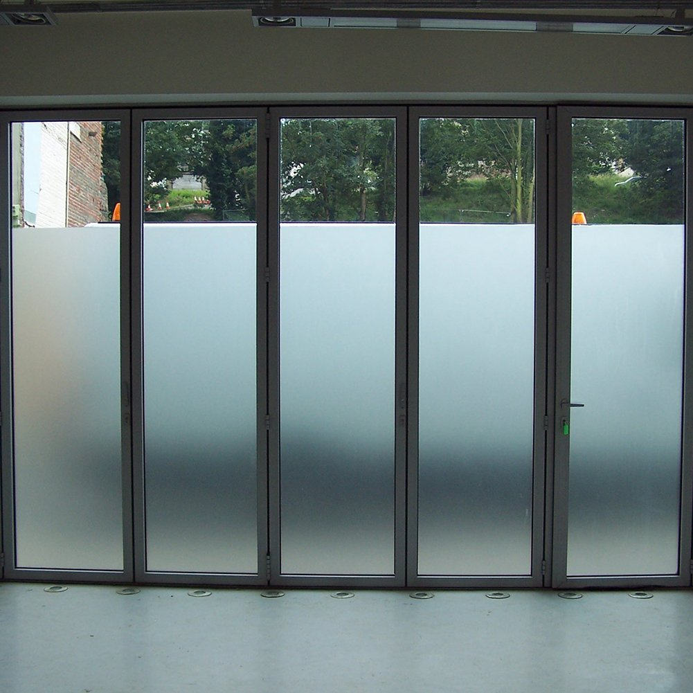 Amposei Non-Adhesive Etched Privacy Film For Glass Windows Doors 35.4 by 78.7 inches by Amtick (Image #5)