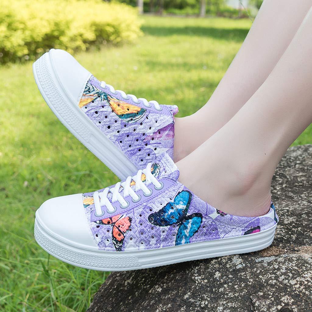 Le Nouveau Produit Le Sandales Papillon D/ét/é pour Femmes ~ Pantoufles /étudiantes /à Plateforme pour Chaussures De Plage Sauvages pour Le Travail Et Les Loisirs