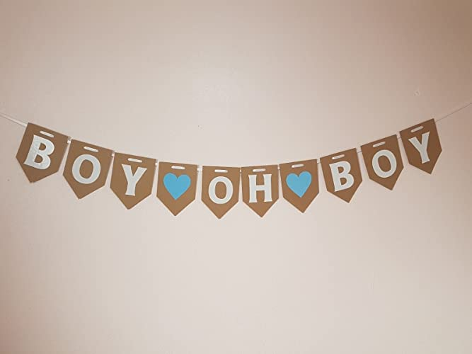 boy oh boy bunting banner twins decoration mum to be garland