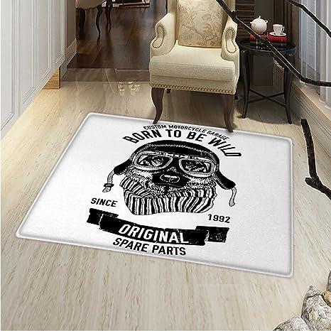 Amazon.com: Modern Area Rug Carpet Born to be Wild Quote ...