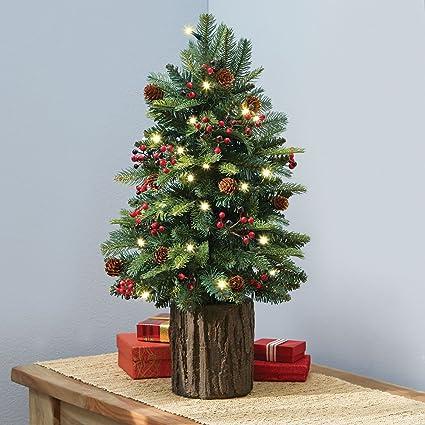 Hammacher Schlemmer The Tabletop Prelit Christmas Tree - Amazon.com: Hammacher Schlemmer The Tabletop Prelit Christmas Tree