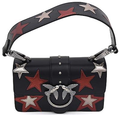 1f3d916e46f29 Pinko Women s Top-Handle Bag Black black   silver  Amazon.co.uk  Shoes    Bags