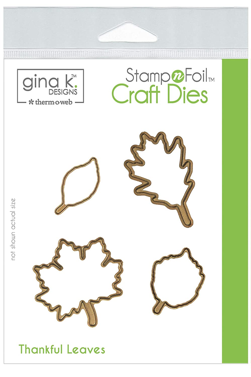 Gina K. Designs for Therm O Web StampnFoil Craft Dies, Thankful Leaves Thermoweb 546698