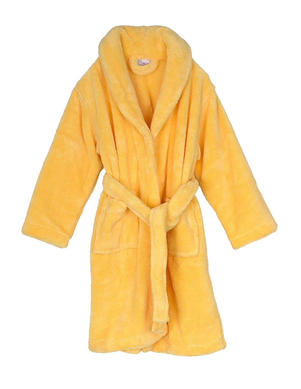 Made in Turkey TowelSelections Boys Robe Kids Plush Shawl Fleece Bathrobe
